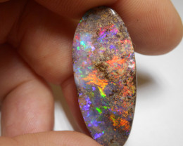 39.8ct Boulder Opal Polished Stone Pendant (Side Drilled)