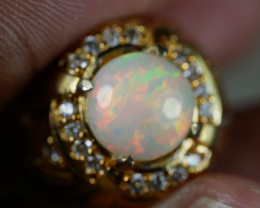 46.30 CT Amazing UNTREATED Ethiopian Welo Opal Jewelry Ring *