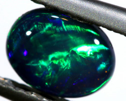 N1 -  0.85 CTS QUALITY BLACK OPAL POLISHED STONE  INV-1418