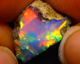 5.10Ct Multi Color Play Ethiopian Welo Opal Rough F1710
