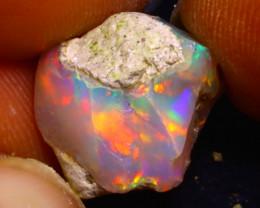 6.32Ct Multi Color Play Ethiopian Welo Opal Rough F1719