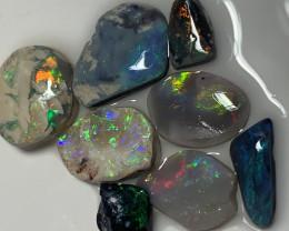 SEMI FINISHED RUBS; 43.5 CTs of Lightning Ridge Opal Rubs #2268