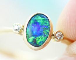 14k Doublet Opal Ring OPJ 2571