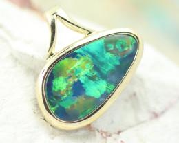 14k Doublet Opal Pendant OPJ 2580