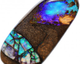 35.34 CTS BOULDER WOOD FOSSIL&PIPE OPAL WELL POLISHED[BMA9214]