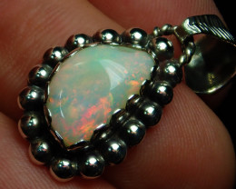 12.31ct Blazing Welo Solid Opal .925 Sterling Silver