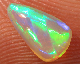 0.65ct 7.8x4.7mm Solid Lightning Ridge Crystal Opal [LO-1971]