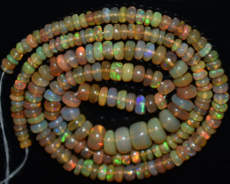 45.50 Ct Natural Ethiopian Welo Opal Beads Play Of Color  OB840