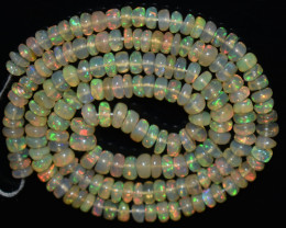 52.25 Ct Natural Ethiopian Welo Opal Beads Play Of Color OB841