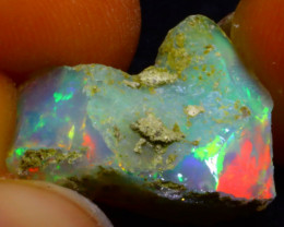 6.08Ct Multi Color Play Ethiopian Welo Opal Rough F2103