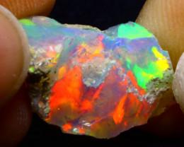 6.40Ct Multi Color Play Ethiopian Welo Opal Rough F2120