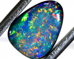 2.63 CTS L.RIDGE  OPAL DOUBLET  ON BLACK  POTCH STONE TBO-A237