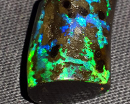 16.00 CRT PLAY COLOR PATTERN SPECIMENT INDONESIAN OPAL WOOD FOSSIL