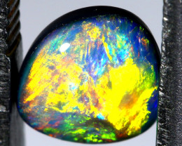1.17 CTS L.RIDGE  OPAL DOUBLET  ON BLACK  POTCH STONE TBO-A263