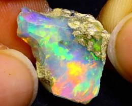 6.28Ct Multi Color Play Ethiopian Welo Opal Rough G2219