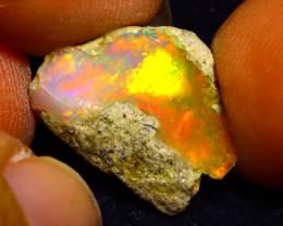 5.60Ct Multi Color Play Ethiopian Welo Opal Rough G2221
