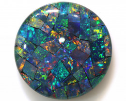 27.55CTS - TOP  QUALITY MOSAIC TRIPLET    LO-5648