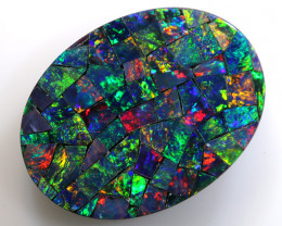 20x15mm - 5.80CTS  QUALITY MOSAIC  DOUBLET LO-5666