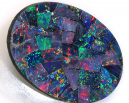 8.75-CTS  QUALITY MOSAIC  DOUBLET LO-5673