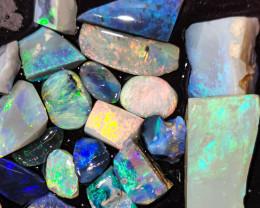Rough Opal Lot 115.70 cts 27 pcs Black Opals Lightning Ridge BORA060619
