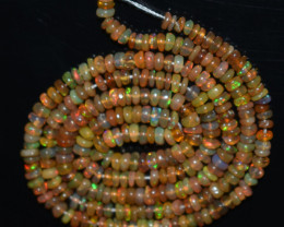 24.95 Ct Natural Ethiopian Welo Opal Beads Play Of Color OB851