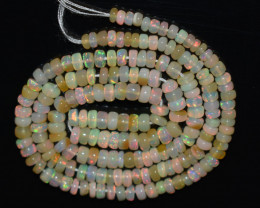 36.60 Ct Natural Ethiopian Welo Opal Beads Play Of Color OB853