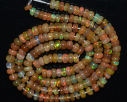 39.55 Ct Natural Ethiopian Welo Opal Beads Play Of Color  OB854