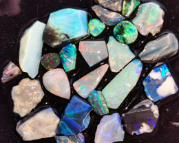 Rough Opal Lot 105.10 cts 25 pcs Black Opals Lightning Ridge BORB221219