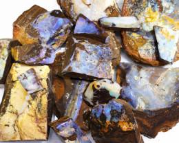 1 Kilo Parcel Boulder Opal Rough  Rubs  WS 1821