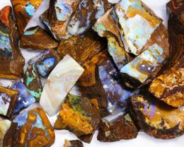 1 Kilo Parcel Boulder Opal Rough  Rubs  WS 1823