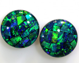 4.60 CTS - A GRADE  QUALITY MOSAIC TRIPLET PAIR  LO-5752