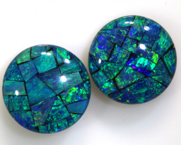 4.60 CTS - A GRADE  QUALITY MOSAIC TRIPLET PAIR  LO-5755