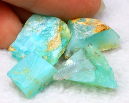 Rough 27.90Ct Natural Peruvian Paraiba Color Opal G2618