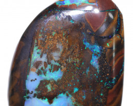 62.86 CTS BOULDER WOOD FOSSIL WELL POLISHED[BMA9232]