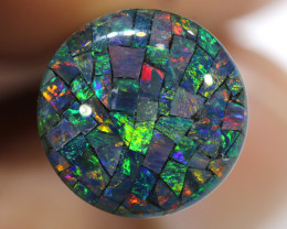 3.80 CTS -12mm A GRADE  QUALITY MOSAIC TRIPLET  LO-5823
