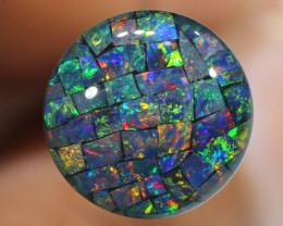 3.80 CTS  12mm A GRADE  QUALITY MOSAIC TRIPLET  LO-5824