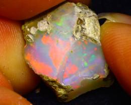 9.24Ct Multi Color Play Ethiopian Welo Opal Rough F2702