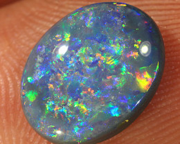 2.2ct 11x8.5mm Solid Lightning Ridge Dark Opal [LO-2001]