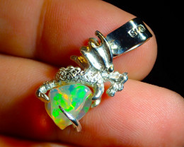 19.45ct. Lost Wax  Sterling Silver Casting  .925 Dragon Pendant