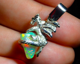 23.27ct. Sterling Silver .925 Dragon Pendant