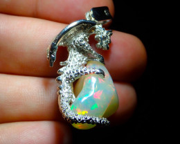 58.5ct. Sterling Silver .925 Dragon Pendant