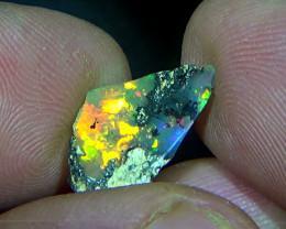 3.30 cts Ethiopian Welo CHAFF FLASH polished dendritic opal N6 4,5/5