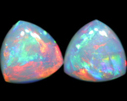 1.27 CTS CRYSTAL OPAL  PAIR TRILLION CUT [SEDA2945]