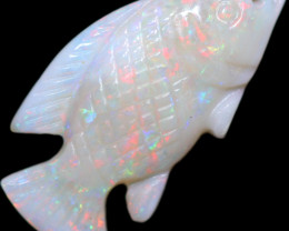 4.47 CTS OPAL CARVING OF A FISH [SEDA2954]