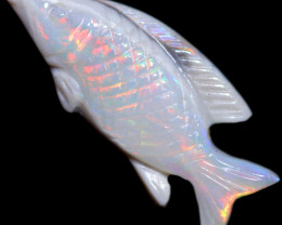 3.93 CTS OPAL CARVING OF A FISH [SEDA2955]