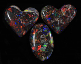nnHeart Juicy Opals- High Polish-Heart ready to set [25347]