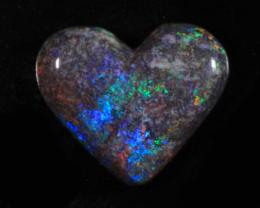 nnHeart Opal- High Polish-Heart ready to set [25350]