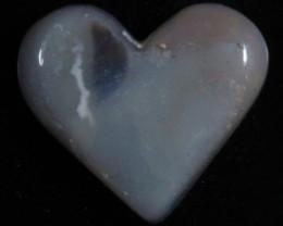 nnHeart Opal- High Polish-Heart ready to set [25372]