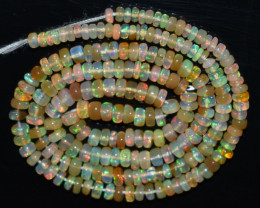 36.80 Ct Natural Ethiopian Welo Opal Beads Play Of Color OB860