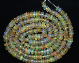 27.70 Ct Natural Ethiopian Welo Opal Beads Play Of Color  OB868